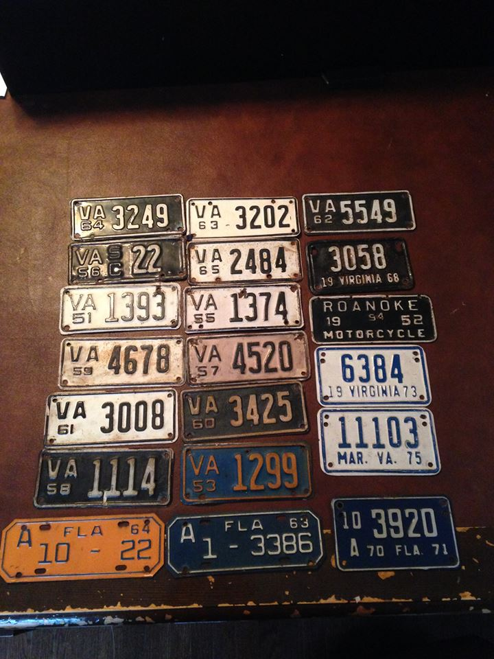 Vintage Virginia Motorcycle Tags | Roanoke Antiques and Coin Shop ...